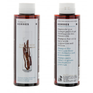 Korres шампунь для жирных волос лакрица и крапива 250 мл